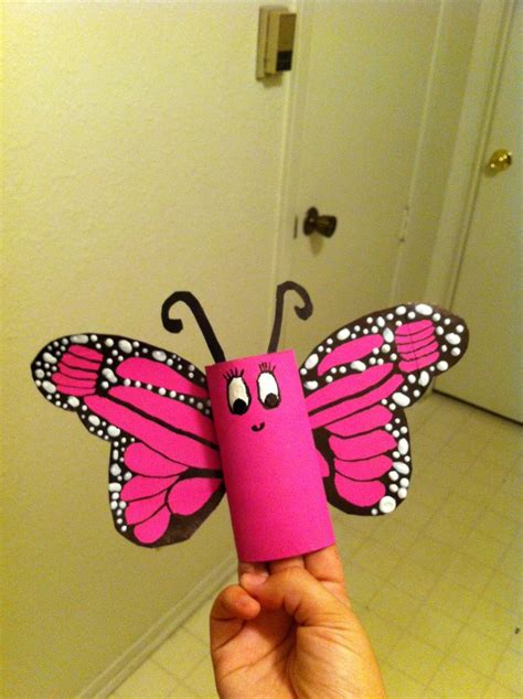 Butterfly Toilet Paper Roll Craft - toilet paper roll butterfly craft ideas
