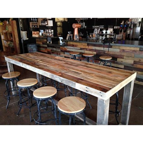 reclaimed wood bar table 25 best ideas about reclaimed wood bars on