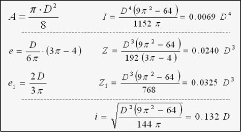 formulas 2 section properties area section modulus