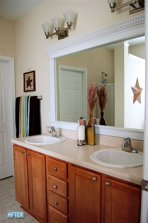 crown molding mirror ideas  pinterest crown