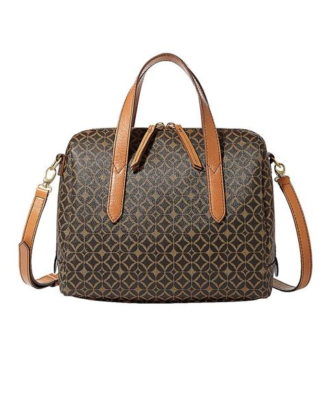 Tas Fossil Sudney Satchel Multi Brown handbags handbags sydney satchel hudson s bay bags bays sydney and