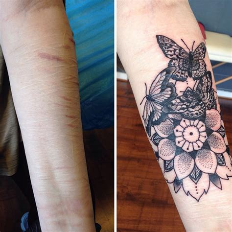 tattoos to cover c section scars 10 amazing tattoos that turn scars into works of