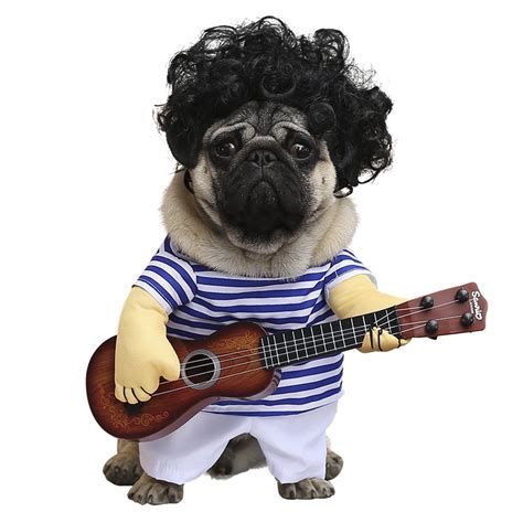 pug guitar small and large costumes for every occasion noveltystreet