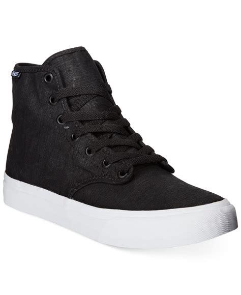 high top black sneakers womens vans s camden high top sneakers in black lyst