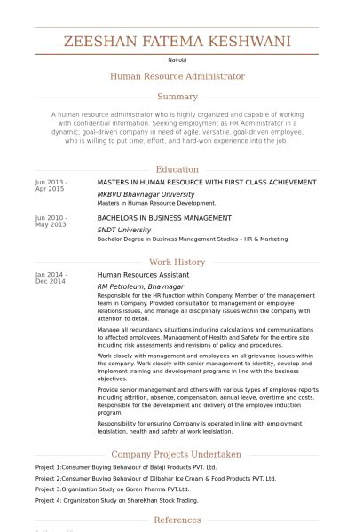 Hr Admin Assistant Sle Resume by Human Resource Assistant Resume The Best Letter Sle