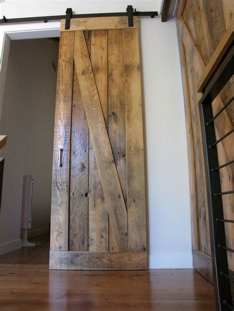 Salvaged Barn Doors Sliding Barn Door Reclaimed Wood Ideas For The Home