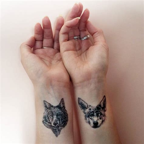 wolf pack tattoo wolf pack temporary tattoos by fawn thistle