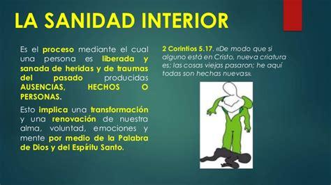 sanidad interior la sanidad interior