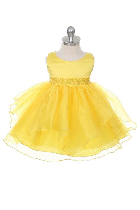 cbyb girls dress style  yellow sleeveless