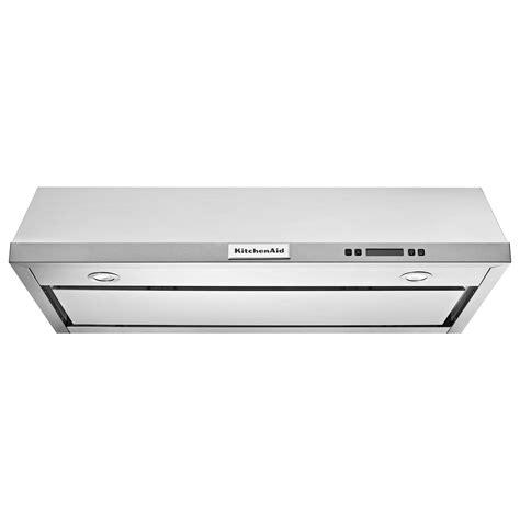 30 inch under cabinet range hood kitchenaid kvub600dss 30 inch under cabinet vent hood w 4