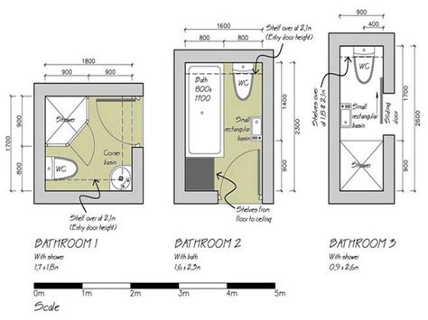 Floor Plans Bathroom by Small Bathroom Floor Plans 3 Option Best For Small Space