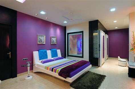 bedroom purple and gray wall paint color combination diy country ideas violet colour in of
