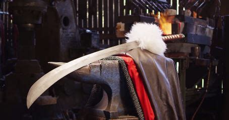 inuyasha�s tessaiga is forged by man at arms blacksmiths
