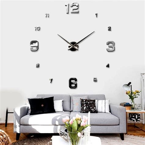 home decor for sale luxury large wall clock 3d sticker big new mirrors surface creative art diy 3d wall clock luxury