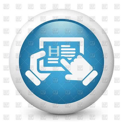 website clipart cinema website purchase tickets icon vector image