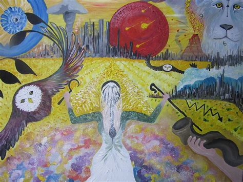 The End Of The Age the harvest at the end of the age painting by rachael pragnell