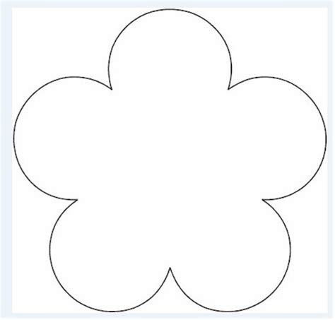 big flower template printable best photos of large flower template printable flower