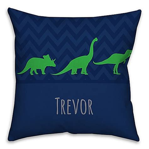 pacific coast pillows bed bath beyond buy chevron dinosaur square throw pillow in blue and green from bed bath beyond