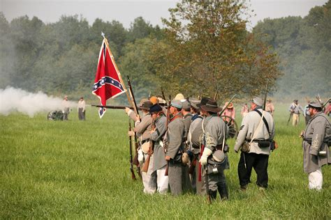 Muster Of Battle Civil War Reenactment