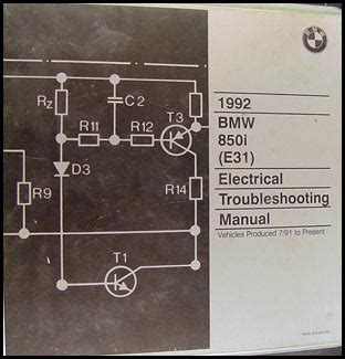 1992 bmw 850 i owners electrical service manual e31 parts 1991 8 series e 31 ebay 1992 bmw 850i electrical troubleshooting manual original