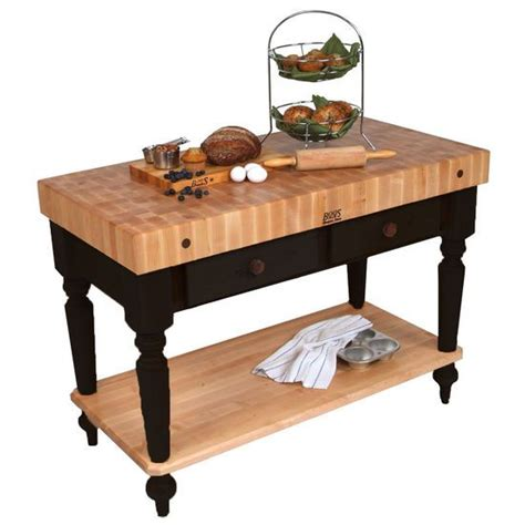 kitchen carts kitchen islands work tables and butcher the 48 inch wide cucina kitchen work table by john boos