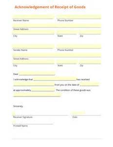 Goods Receipt Template Business Form Template Gallery