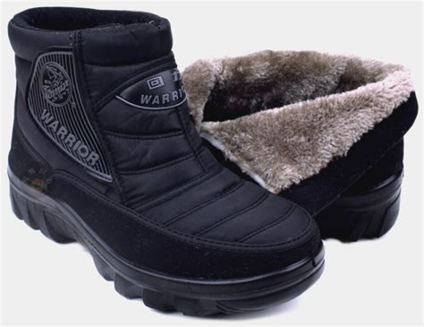 mens warmest winter boots warrior snow boots warm cotton shoes waterproof