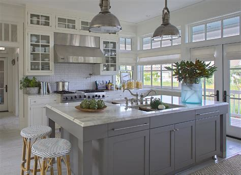 White Kitchen Gray Island by White Kitchen With Gray Island This White And Gray