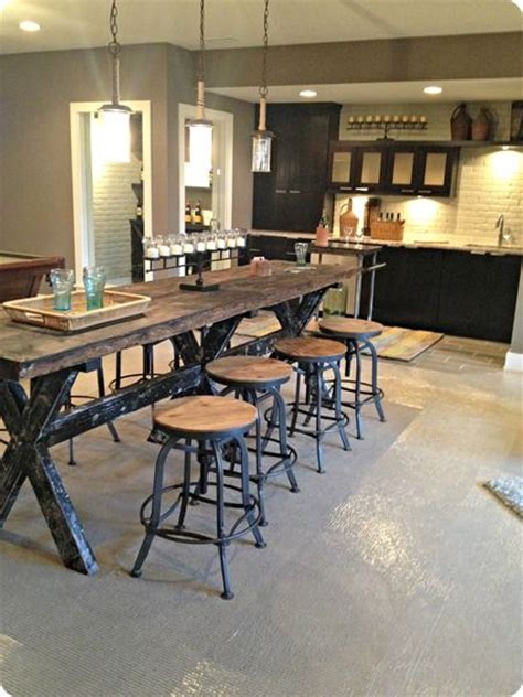 rustic kitchen island table farmhouse counter height table 9 best images about cinder block walls on pinterest