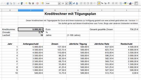 excel kreditrechner kostenlos kreditrechner f 252 r excel kostenlos downloaden und zinsen