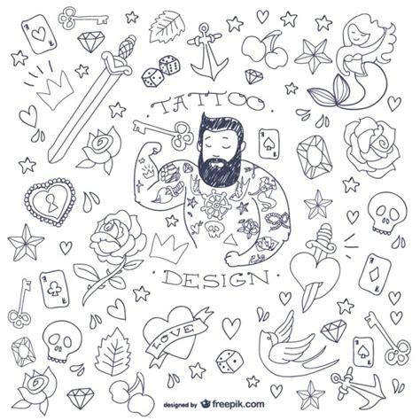 doodle tattoos doodle symbols vector free