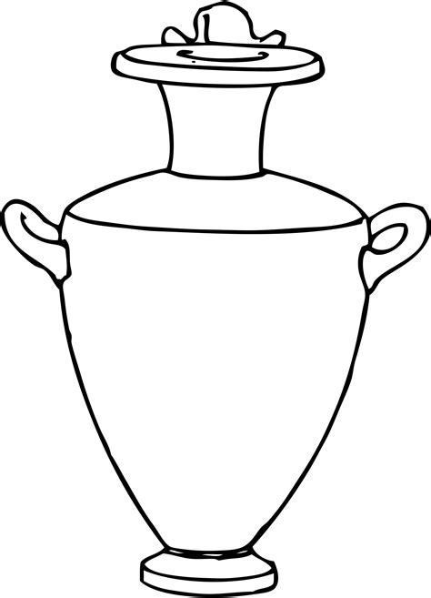 greek vases coloring page coloriage grand vase 224 imprimer