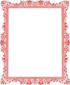 Medieval Candle Chandelier Red Border From Page 27