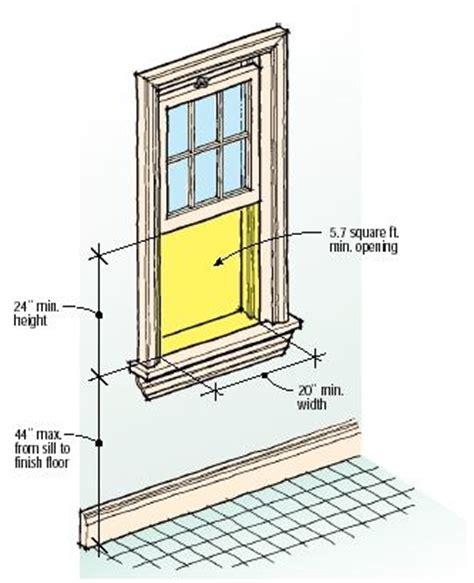 Window Sill Size Q A Upstairs Window Egress Jlc Bedroom