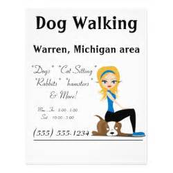 walking poster template walker pet sitter business flyers