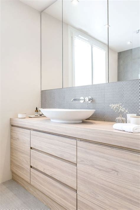 bathroom simple bathroom mirror cabinet design with oak kraan uit de muur wooninspiratie