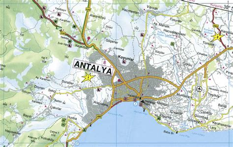 maps lara maps of antalya