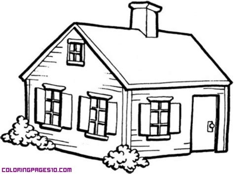 wood house coloring pages wooden house