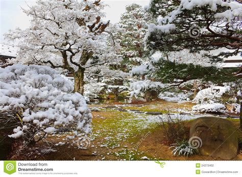 japanese garden in winter japanese garden in winter stock photography image 24273402