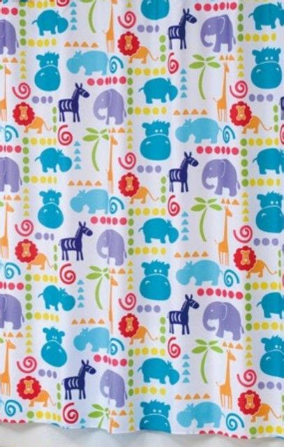 Unisex Shower Curtain by Hippo Shower Curtain 25 95 Unisex Bathroom Kid Shower Curtains And