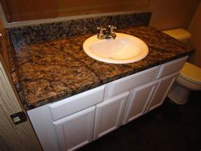 Imitation Granite Countertop by Diy Faux Granite Countertop Without A Kit For 60