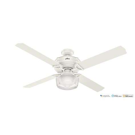 wifi enabled ceiling fan hunter brunswick 60 in led indoor fresh white wi fi