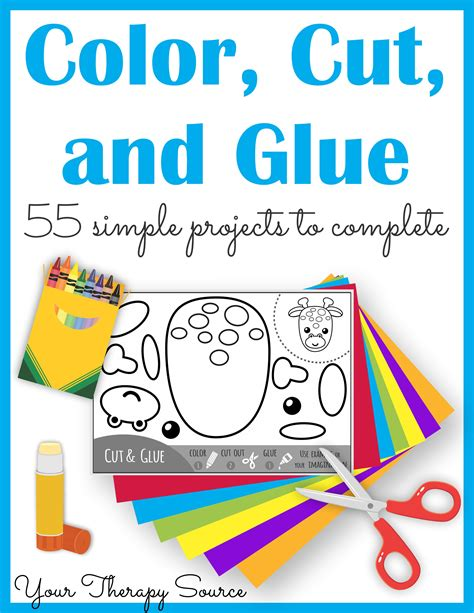 color and cut color cut and glue complete packet motor and
