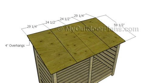 firewood storage shed plans myoutdoorplans free