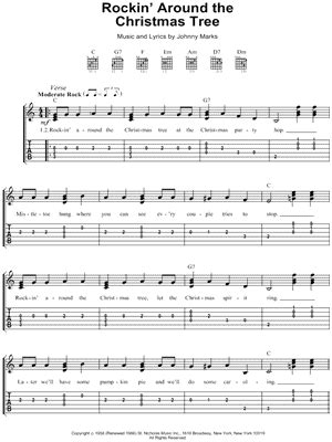 Wedding Bell Fingerstyle Tab by Brenda Quot Rockin Around The Tree Quot Guitar Tab
