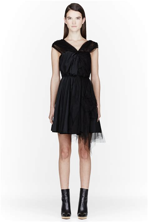 Ricci Tulle Tank Dress It Or It by Ricci Black Tulle And Silk Knotted Dress