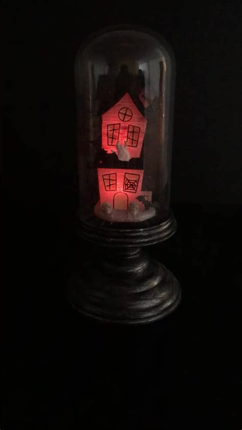 light up haunted house decoration battery led light up color changing halloween decoration