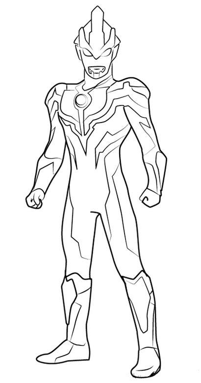 Contoh Gambar Gambar Ultraman Zero Untuk Mewarnai - KataUcap