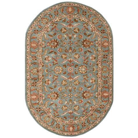 Safavieh Heritage Blue 5 Ft X 8 Ft Oval Area Rug Hg969a 8ft Rugs