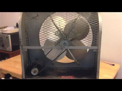 belt drive wall exhaust fan vintage 24 quot dayton belt drive window exhaust fan youtube